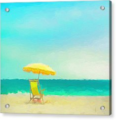 Acrylic Print featuring the painting Got Beach? by Douglas MooreZart