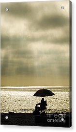 Beach Umbrella Acrylic Print by Deborah Smolinske