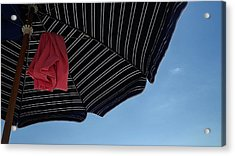 Beach Umbrella Acrylic Print by John Wartman