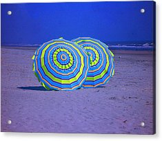 Beach Umbrellas By Jan Marvin Studios Acrylic Print