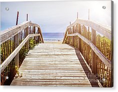 Beach View Acrylic Print by Elena Elisseeva