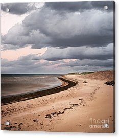 Beach View With Storm Clouds Acrylic Print by Elena Elisseeva