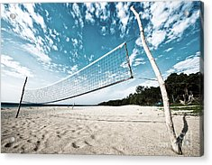 Acrylic Print featuring the photograph Beach Volleyball Net by Yew Kwang
