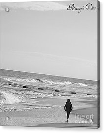 Beach Walk Acrylic Print by Lorraine Heath