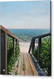 Beach Walk Way Acrylic Print by Paul Walsh