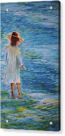 Beach Walker Acrylic Print by John Scates