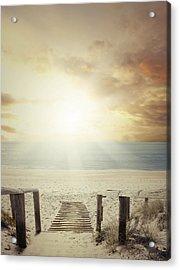 Beach Walkway Acrylic Print by Les Cunliffe
