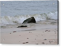 Beach Wave Acrylic Print by Rebecca Jayne