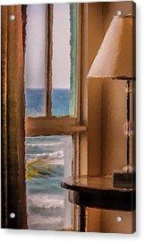 Beach Window Acrylic Print by Andrea  OConnell