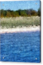 Beach With Short Dune Acrylic Print by Michelle Calkins
