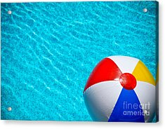Beachball 1 Acrylic Print by Amy Cicconi