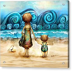 Beachcombers Acrylic Print by Karin Taylor