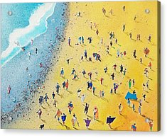 Beachcombing Acrylic Print by Neil McBride