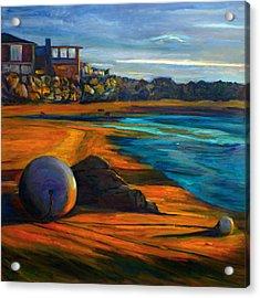 Beached Anchor Balls Acrylic Print