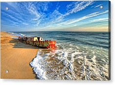 Beached Boat Morning - Outer Banks Acrylic Print by Dan Carmichael