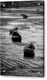 Acrylic Print featuring the photograph Beached Boats by Gary Slawsky