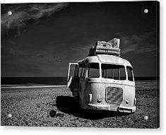 Beached Bus Acrylic Print by Yvette Depaepe