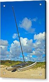 Beached Catamaran  Acrylic Print