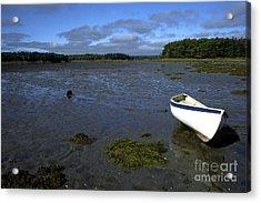 Beached Fishing Boat Acrylic Print by Thomas R Fletcher
