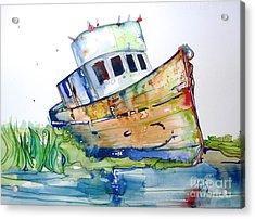 Beached Acrylic Print by Maya Simonson