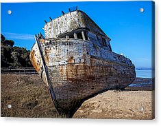 Beached Point Reyes Acrylic Print by Garry Gay