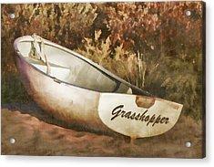 Beached Rowboat Acrylic Print