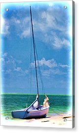 Beached Sailboat Acrylic Print