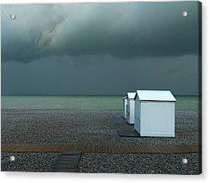 Beachhouses Acrylic Print by Elisabeth Wehrmann