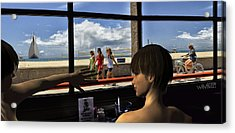 Beach_window Acrylic Print