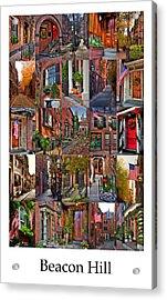 Beacon Hill - Poster Acrylic Print by Joann Vitali