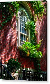 Beacon Hill Window Series Acrylic Print by Joann Vitali