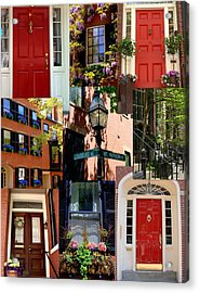 Beacon Hill  Windows Doors And More Acrylic Print