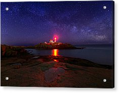 Beacon In The Night Acrylic Print by Michael Blanchette