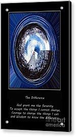 Beacon Of Hope - Serenity Prayer Acrylic Print by Barbara Griffin