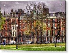 Beacon Street Brownstones - Boston Acrylic Print