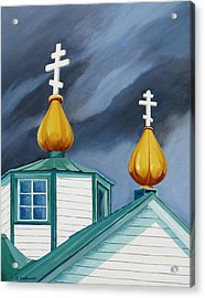 Beacons Acrylic Print by Shirley Galbrecht