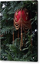 Beaded Ball In Arborvitae Acrylic Print