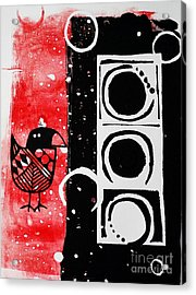 Beak In Red And Black Acrylic Print by Cynthia Lagoudakis