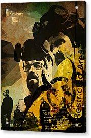 Breaking Bad Poster Acrylic Print by Albert Lewis