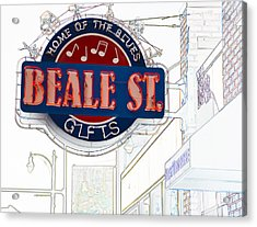 Beale Street Home Of The Blues Acrylic Print