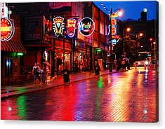 Beale Street Memphis Acrylic Print by James Kirkikis