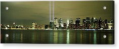 Beams Of Light, New York, New York Acrylic Print by Panoramic Images