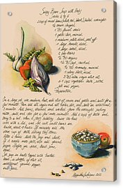 Bean Soup And Vegetables Acrylic Print by Alessandra Andrisani