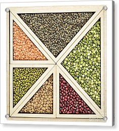 Beans And Lentils Abstract Acrylic Print by Marek Uliasz