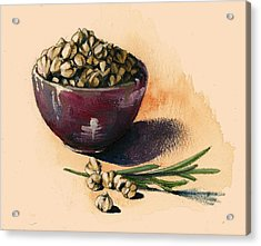 Beans Chickpeas Acrylic Print by Alessandra Andrisani