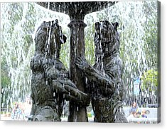Bear Fountain Acrylic Print