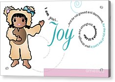 bear fruit -Joy Acrylic Print by Affini Woodley