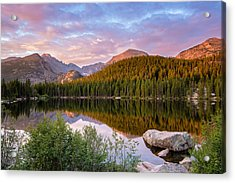 Bear Lake Sunrise Acrylic Print by Adam Pender