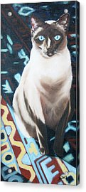Acrylic Print featuring the painting Bear by Nancy Jolley