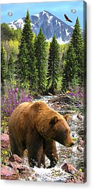Acrylic Print featuring the painting Bear Necessities by Doug Kreuger